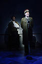Bob Benton and Daniel Brodie for DB Productions in association with Park Theatre present the World Premiere of<br /> &quot;The Patriotic Traitor&quot;<br /> written and directed by Jonathan Lynn. Picture shows: James Chalmers, Laurence Fox (Charles de Gaulle)