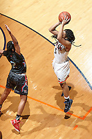 SAN ANTONIO, TX - JANUARY 28, 2016: The University of Texas at San Antonio Roadrunners fall to the Louisiana Tech Lady Techsters 82-72 in Overtime at the UTSA Convocation Center. (Photo by Jeff Huehn)
