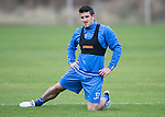 St Johnstone Training&hellip;..21.10.16<br />Michael Coulson pictured during training ahead of Sunday&rsquo;s game against local rivals Dundee<br />Picture by Graeme Hart.<br />Copyright Perthshire Picture Agency<br />Tel: 01738 623350  Mobile: 07990 594431