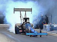 Jun 18, 2016; Bristol, TN, USA; NHRA top fuel driver Pat Dakin during qualifying for the Thunder Valley Nationals at Bristol Dragway. Mandatory Credit: Mark J. Rebilas-USA TODAY Sports
