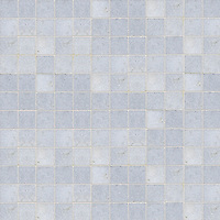 "Gridded 2"", a hand-cut stone mosaic, shown in polished Celeste."