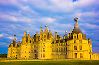 Chambord Castle,   Loire Valley, France   Built by Francois I  in 1519   Near Blesois  UNESCO World Heritage Site