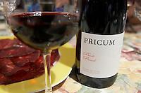 prieto picudo Pricum bottle Bodegas Margon , DO Tierra de Leon , restaurant Imprenta Casado, Leon spain castile and leon