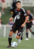 Branko Boskovic #27 of D.C. United scored in the first minute during a US Open Cup match against the Harrisburg City Islanders at the Maryland Soccerplex on July 21 2010, in Boyds, Maryland. United won 2-0.