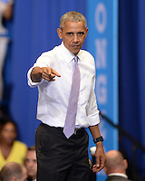 OCT 20 President Barak Obama Campaigns for Hillary Clinton