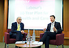 Andy Burnham MP, Labour&rsquo;s Shadow Health Secretary launches Labour&rsquo;s 10-year plan for health and social care services<br /> 27th January 2015 at The King's Fund, London, Great Britain <br /> Chris Ham - Kings Fund CEO <br /> Andy Burnham <br /> <br /> <br /> <br /> Photograph by Elliott Franks <br /> Image licensed to Elliott Franks Photography Services