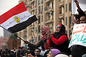"""Egyptians take part in the  """"million man march"""" demonstration February 01, 2011 in Central Cairo's Tahrir, or """"Liberation"""" square. The march capped a week of protests that are threatening to bring down the nearly 30 year old regime of Hosni Mubarak."""