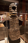 "A suit of armor in the ""Terra Cotta Warriors: The Emperor's Painted Army,"" Exhibit directly from Xian in the Shaanxi Province, China which debuted in 2014 at the Children's Museum, Indianapolis, Indiana, USA"