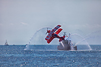 Mike Weskus - Lucas Oil pays the fireboat a visit at the Canadian International Air Show in Toronto.