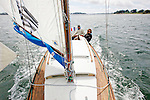 Onboard the Belouga &ldquo;Gwenva&rdquo; during the &ldquo; Semaine du Golfe du Morbihan&rdquo;.<br /> The &quot;Semaine du Golfe&quot; (Gulf's Week) in Morbihan, the 8th &quot;rendez-vous&quot; for the sailing maritime heritage<br /> Once again, the Gulf will gather boats of every size and every tradition: sail&amp;oar craft, small &quot;camp cruising&quot; boats, classic yachts, fishing boats, classic motorboats&hellip; Most of them will come from the French Atlantic coasts, but also, from The British Islands, the North Sea, Scandinavia, the Mediterranean&hellip;