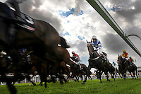 Horse Racing - Glorious Goodwood - Sportingbet.com Goodwood Stakes (handicap)...Gee Dee Nen at the start of the race ridden by Ryan Moore in the first race of the day, the Sportingbet.com Goodwood Stakes at Glorioss Goodwood............