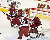 Kelli Stack (BC - 16) scored the first of her three goals 7:51 into the first period. - The Boston College Eagles defeated the visiting Harvard University Crimson 6-2 on Sunday, December 5, 2010, at Conte Forum in Chestnut Hill, Massachusetts.