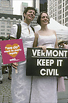 Civil Wedding in Vermont Lesbian same sex wedding or commitment ceremony a demonstration for equailty and civil rights