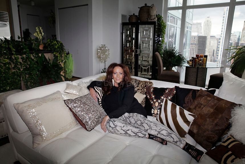 Diane Gilman, 66, poses for a portrait in her midtown apartment. She is an icon of fashion and lifestyle for baby boomer women.