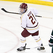 Steven Whitney (BC - 21) - The Boston College Eagles defeated the visiting Dartmouth College Big Green 6-3 (EN) on Saturday, November 24, 2012, at Kelley Rink in Conte Forum in Chestnut Hill, Massachusetts.