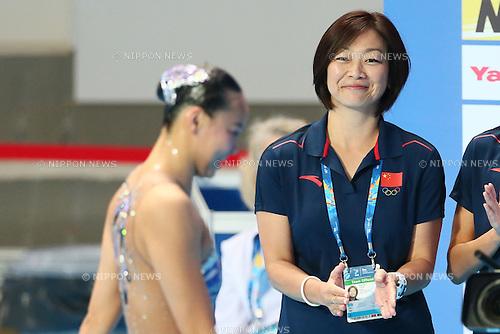 (L-R) Huang Xuechen, Mayuko Fujiki (CHN),  JULY 29, 2015 - Synchronised Swimming : 16th FINA World Championships Kazan 2015 Solo Free Routine Final at Kazan Arena in Kazan, Russia. (Photo by Yohei Osada/AFLO SPORT)