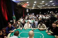 28 February 2009: Overview of the ballroom during the  7th Annual WPT World Poker Tour Invitational at the Commerce Casino in Los Angeles, CA. Players compete for poker glory and a  piece of the $200,000 prize pool. Celebrity and Pro card players in action.