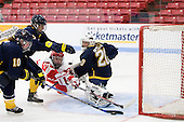 Manon Davis (Windsor - 10), Candace Rapchak (Windsor - 7), Louise Warren (BU - 28), Kasey Martin (Windsor - 20) - The Boston University Terriers defeated the visiting University of Windsor Lancers 4-1 in a Saturday afternoon, September 25, 2010, exhibition game at Walter Brown Arena in Boston, MA.