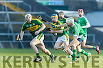Daniel Collins Kerry in action against Seamus Hickey Limerick in the Munster Hurling League Round 4 at the Gaelic Grounds, Limerick on Sunday.