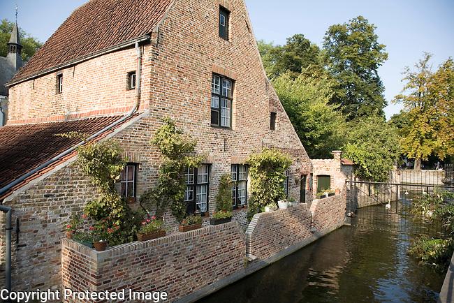 Traditional House - Begijnhof, Bruges; Belgium; Europe