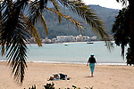 Relaxing at the beach of Port Soller in Majorca