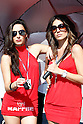 May 2, 2010 - Jerez, Spain  -  Grid girls pose in the paddock prior the Spanish Grand Prix at the Jerez racetrack on May 2, 2010 in Jerez de la Frontera. (Photo Andrew Northcott/Nippon News)