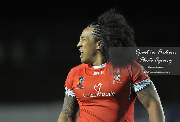 Fuifui Moimoi (Tonga)   - PHOTO: Mandatory by-line: Garry Bowden/SIPPA/Pinnacle - Photo Agency UK Tel: +44(0)1363 881025 - Mobile:0797 1270 681 - VAT Reg No: 768 6958 48 - 29/10/2013 - Rugby League World Cup 2013, Tonga v Scotland, Derwent Park, Workington, Cumbria, England