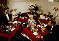 Couples dining in the restaurant at the Desert Inn, Daytona Beach Florida.