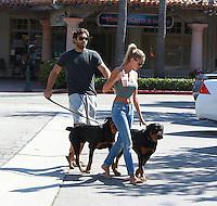Brody Jenner and Katilyn Carter at the Cross Creak Malibu Mall