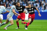Alex Goode of Saracens goes on the attack. European Rugby Champions Cup Final, between Saracens and Racing 92 on May 14, 2016 at the Grand Stade de Lyon in Lyon, France. Photo by: Patrick Khachfe / Onside Images