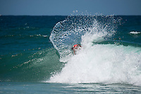 Burleigh Heads, Queensland, Australia. (Sunday, January 8, 2017) Luke Hynd (AUS) - With thousands of people packing out the headland at Burleigh Heads Joel Parkinson (AUS) took out the 2017 Burleigh Boardriders&rsquo; Single Fin Classic.<br /> <br /> The former world champion and current world number nine surfer battled against young up and comers and older Burleigh stalwarts for two day to win the event in front of a crowd of over 3000 people.<br /> <br /> &ldquo;This is such an honour, I can&rsquo;t believe how much fun this weekend has been,&rdquo; Parko said later.<br /> <br /> It is the first time Parkinson had entered the event, where competitors surf on single fin pre-1985 surfboards.<br /> <br /> There is no prize money offered, so surfers battle for the prestige of the event, which has now been running for 20 years.<br /> <br /> North End Boardrider Luke Hynd (AUS) came second in the event with Burleigh Boardrider James Lewis (AUS) coming in third.<br /> <br /> Up-and-coming Burleigh surfer Maddy Job (AUS) took out the junior division. Photo: joliphotos