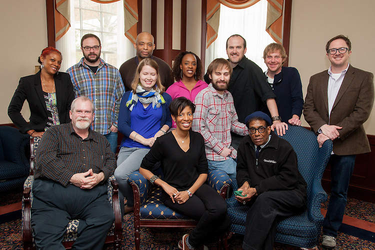 Playwrights Kickoff Brunch Thursday April 24 in the 1804 Lounge at Ohio University.  Photo by Ohio University / Jonathan Adams