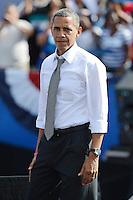 Barack Obama durante su campaña en Delray Beach