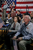 Derry, New Hampshire.January 23, 2004..Wseley Clark campaigns during the presidentual primary at Pinkerton Academy in New Hampshire. He is joined by actors Ted Danson, Mary  Steenbergen...