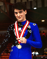 Brian Orser Canadian figure skater compete at the 1985 Canadian Championships in Moncton, Canada. Photo copyright Scott Grant.