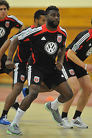 D.C. United defender Brandon McDonald  during the pre-season fitness training session at George Manson University before departing for Bradenton Florida to get ready for the 2013 season, Friday January 18, 2013.