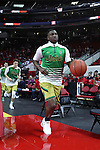 18 February 2017: Notre Dame's Temple TJ Gibbs leads his teammates onto the court. The North Carolina State University Wolfpack hosted the University of Notre Dame Fighting Irish at the PNC Arena in Raleigh, North Carolina in a 2016-17 Division I Men's Basketball game. Notre Dame won the game 81-72.