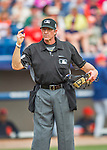 5 March 2016: MLB Umpire Paul Nauert works behind the plate during a Spring Training pre-season game between the Detroit Tigers and the Washington Nationals at Space Coast Stadium in Viera, Florida. The Tigers fell to the Nationals 8-4 in Grapefruit League play. Mandatory Credit: Ed Wolfstein Photo *** RAW (NEF) Image File Available ***