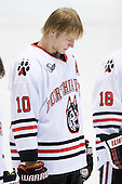Steve Quailer (Northeastern - 10) - The Northeastern University Huskies defeated the visiting Providence College Friars 5-0 on Saturday, November 20, 2010, at Matthews Arena in Boston, Massachusetts.