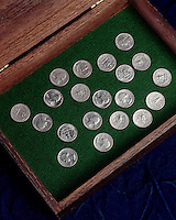 PROBABILITY: QUARTERS SHOWING HEADS &amp; TAILS<br />
