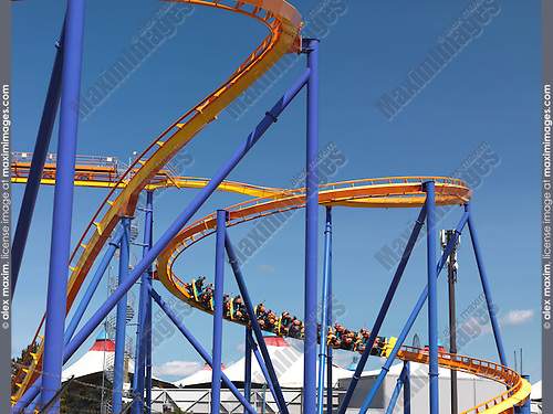 Behemoth roller coaster at Canada's Wonderland amusement park. Vaughan Ontario Canada.