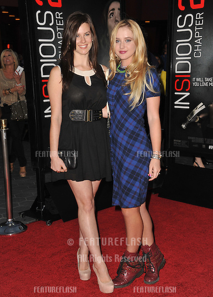 Katie Featherston (left) &amp; Kathryn Newton at the world premiere of &quot;Insidious Chapter 2&quot; at Universal Citywalk, Hollywood.<br /> September 10, 2013  Los Angeles, CA<br /> Picture: Paul Smith / Featureflash