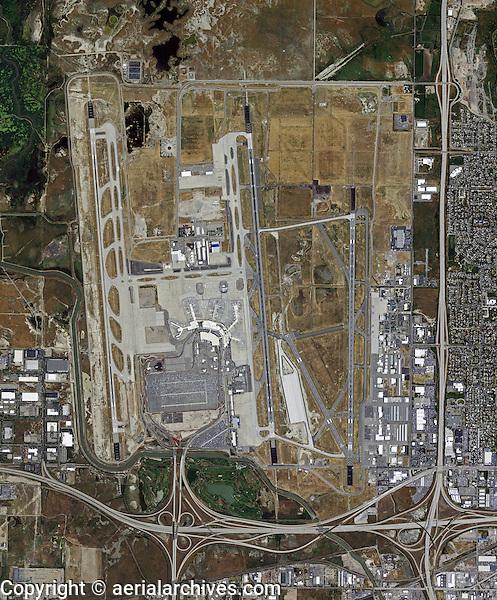 aerial photo map of Salt Lake City International Airport, Utah