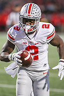 College Park, MD - November 12, 2016: Ohio State Buckeyes wide receiver Dontre Wilson (2) scores a touchdown during game between Ohio St. and Maryland at  Capital One Field at Maryland Stadium in College Park, MD.  (Photo by Elliott Brown/Media Images International)