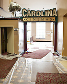 A $1.8 million renovation is nearly complete at The Carolina Theatre in Durham, Friday, September 23, 2011. The renovations include new carpeting, plaster repairs, painting, new doors and windows, and the opening of the six private boxes in Fletcher Hall, a historic 1,055-seat theater which opened in 1926. The City of Durham is paying for and carrying out the renovations, which are Phase II of a construction project funded by a 2005 bond issue.