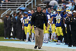 26 September 2015: Delaware head coach Dave Brock. The University of North Carolina Tar Heels hosted the University of Delaware Blue Hens at Kenan Memorial Stadium in Chapel Hill, North Carolina in a 2015 NCAA Division I College Football game. UNC won the game 41-14.