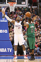 12/27/12 Los Angeles, CA: Los Angeles Clippers center Ronny Turiaf #21 during an NBA game between the Los Angeles Clippers and the Boston Celtics played at Staples Center. The Clippers defeated the Celtics 106-77 for their 15th straight win.