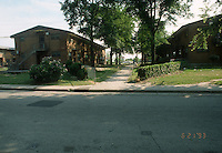 1993 June 21..Assisted Housing.Calvert Square..BEFORE RENOVATIONS.ROLL 2-12.BAGNALL ROAD BETWEEN 849 & 847 LOOKING SOUTH...NEG#.NRHA#..