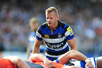 Chris Cook of Bath Rugby looks on at a scrum. Aviva Premiership match, between Bath Rugby and Newcastle Falcons on September 10, 2016 at the Recreation Ground in Bath, England. Photo by: Patrick Khachfe / Onside Images