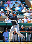 11 March 2009: New York Yankees' infielder Eduardo Nunez in action during a Spring Training game against the Detroit Tigers at Joker Marchant Stadium in Lakeland, Florida. The Tigers defeated the Yankees 7-4 in the Grapefruit League matchup. Mandatory Photo Credit: Ed Wolfstein Photo